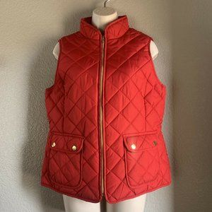 Women's St John's Bay Quilted Red Vest